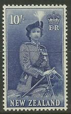 NEW ZEALAND 1953-54 10/- QUEEN ELIZABETH II 1v MNH