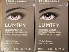 LOT OF TWO  Lumify Redness Reliever Eye Drops (0.25 fl.oz)