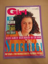 GIRL MAGAZINE 9th May 1987 No. 326 NICK KAMEN / PAUL WELLER / MANTRONIX COLOUR