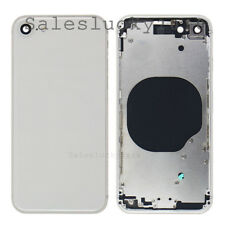 For iPhone 8 8 Plus Housing Battery Cover Metal Middle Frame Back Door Glass New