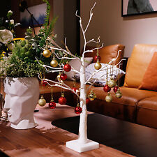 60cm Easter Tree with Lights for Ornaments Decorations Hanging Easter Eggs White