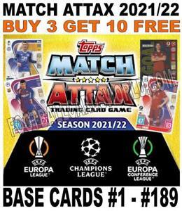 MATCH ATTAX 2021/22 21/22 CHAMPIONS LEAGUE & EUROPA BASE CARDS - #1 - #189