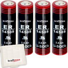 4x Kraftmax Lithium 3,6V Batterie LS 14500 - AA - LS14500 Li-SOCl2 Batterien