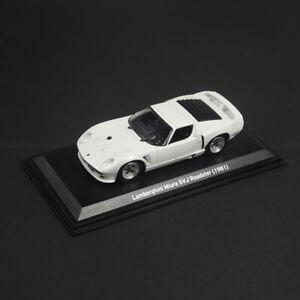 1/43 Lamborghini Miura SVJ Roadster 1981 Model Car Diecast Collection White