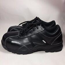 NICE Women's Avenger Composite Toe Safety Shoes Black Leather Slip Resist-8.5 M