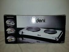 "Deni Table Top Burner Double Plate, 1800-watt, 6"" and 7"" cooktops, model 16320"