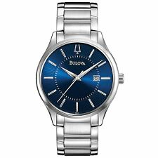 Bulova Men's 96B181 Quartz Blue Dial Stainless Steel 40mm Watch