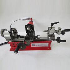 NEW 220V 4 Jaw Chuck Dual Motor Desktop Mini Lathe Bead Lathe Machine 50-2500RPM