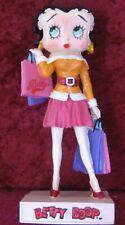 "Figurine Betty Boop Résine ""Shopping Girl"" Hauteur 13 cm Neuf Emballé"