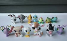 Habro Littlest Pet Shop Magic Motion Black White Bunny Rabbit Animal Lot