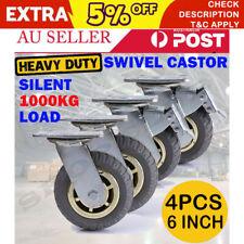 8x 6'' 150mm Heavy Duty Swivel Caster Wheels Castor 4 with Brakes 2000KG Load