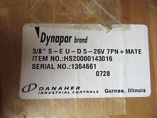 """Dynapar HS20000143016 Encoder 3/8"""" S-EU-D5-26V 7PN+MATE NEW!!! in Factory Box"""