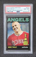 2013 Topps Heritage Mike Trout Black Border Rookie Cup SSP PSA 8 NM-MT Angels