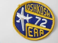EXPERIMENTAL AIRCRAFT ASSOC OSHKOSH 1972 EAA VINTAGE PATCH BADGE