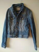 women's diesel denim blue jeans tailored  jacket coat small