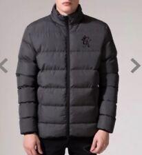 395a7c278e B-B# GYM KING Butcher Puffa Jacket - Dark Charcoal Marl Size M RRP£74.99