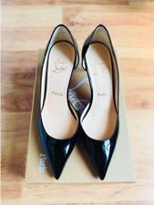Authentic Christian Louboutin Iriza Black Patent 70cm Size 35