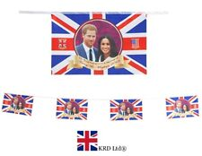 20ft ROYAL WEDDING BUNTING FLAGS Harry Meghan Markle Union Jack British Party UK