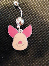 Winnie the Poohs & Tiggers Friend Piglet Head Shot Belly Ring Navel Ring S.S.