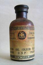 VTG Fritzsche bros sealed POISON bottle Apothecary Croton oil c 1920 1930 Tigli