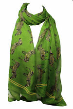 Beautiful Zebra Print Large Maxi Scarf Scarves Shawl Wrap Hijab Stole Sarong