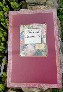 NIB Blessed Moments Photo Album 2 picture frames Gift Set Boxed Velvet Burgundy