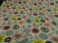 """Kleiderstoff """"Blumen"""" 160 cm br.BW-Mischg.mehrfarb.je 50 cm"""