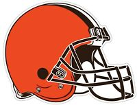 Cleveland Browns Helmet NFL Vinyl Decal / Sticker Sizes Free Shipping
