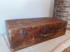 Ancienne valise en bois - Vintage wooden suitecase