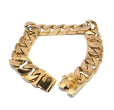 18 Inch Heavy Duty 18k Gold Plated Stainless Steel Cuban Chain Dog Collar