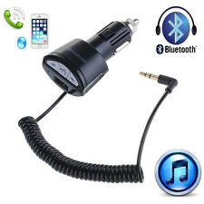 Car Bluetooth A2DP 3.5mm AUX Stereo Audio Receiver Adapter Handsfree USB Charger
