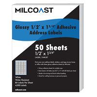 24000 1 3//4 x 1//2 EcoSwift Laser Address Shipping Adhesive Labels 80 per sheet