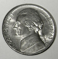 1943-P Uncirculated Silver Jefferson Nickel Gem BU Full Steps