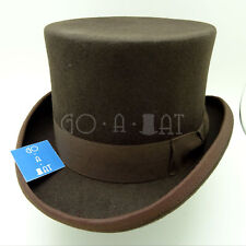 VINTAGE Wool Felt Tuxedo Men Top Hat Victorian Gentlemen Topper | 61cm | Brown