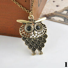 New Fashion Vintage Women Owl Pendant Necklace Long Chain Jewelry Necklace