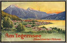 Bayern Alpen Tegernsee Kreuth Gmünd Egern Buch alter Jugendstil Reiseführer 1908