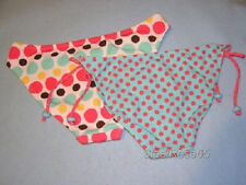 NEW 2 Lot Aeropostale Bikini SwimSuit Bottoms Multi Polka Dots / Teal & Pink M