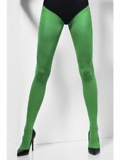 Opaque Tights, Green, One Size