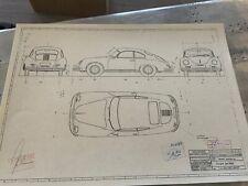 Porsche 356 A Coupe 1956 Konstruktionszeichnung/ Blueprint.