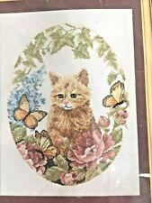 Laura Doyle Designs ~ Cross Stitch Kit ~ CAT IN GARDEN D103