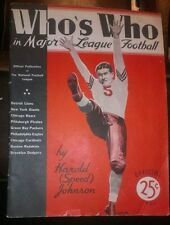 RARE 1936 Who's Who in Major League Football NFL BOSTON REDSKINS, PIRATES, BEARS
