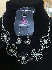 """Daffodil Gardens"" Green Necklace Set By Paparazzi"