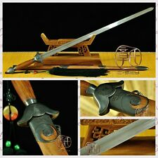 """High Quality Chinese Sword """"Tai Chi Jian""""(劍) Pattern Steel Copper Fitting#012"""