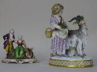 SCULPTURE porcelain girl goat MEISSEN XIX 1800 GERMANY 2500€ s GINORI RUDOLSTADT