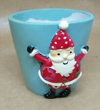 Small Hand-Painted Christmas Novelty Flower Pot