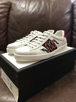 Gucci Men's Ace Embroidered Sneaker Snake White/Green/Red Sz 10.5