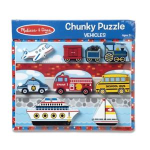 Melissa & Doug Vehicles Chunky Puzzle NEW