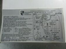 PORSCHE 944 TURBO ENGINE BAY EMISIONS VACUUM DATA DECAL NEW GENUINE READ LISTING