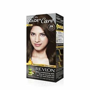 Revlon Color N Care Permanent Hair Color Cream, Brown Black 2N |With Olive