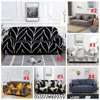 1-4 Seater Sofa Covers Fit Stretch Protector Slipcover Soft Couch Cover 6 Colors